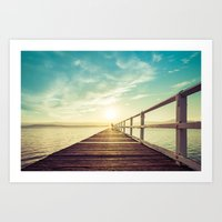 Lake Illawarra Pier Art Print