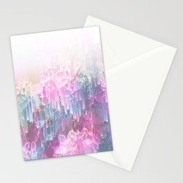 Magical Nature - Glitch Pink & Blue Stationery Cards