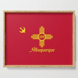 Flag of Albuquerque Serving Tray