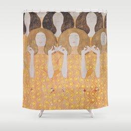 Gustav Klimt - Choir of Angels (Chor Der Paradiesengel) Shower Curtain