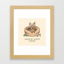 Yorkshire Pudding Terrier Framed Art Print