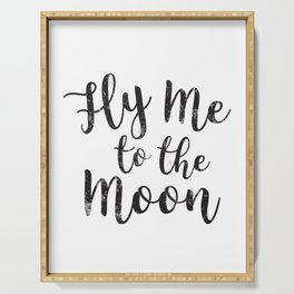 Fly Me To The Moon Serving Tray