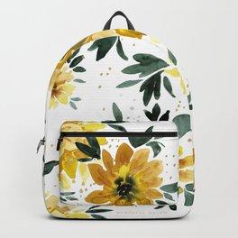 Sunflower Sparkle - white Backpack