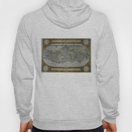 Vintage Map of The World (1595) 2 Hoody