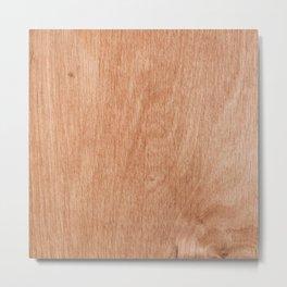 Abstract pastel brown rustic wood texture Metal Print