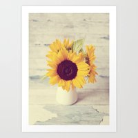 Sunflower Love  Art Print