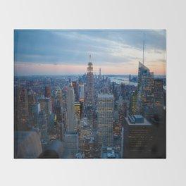 New York City Dusk Throw Blanket