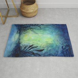 Ethereal Underwater Ocean Life Rug