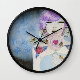 Pain and Love Wall Clock