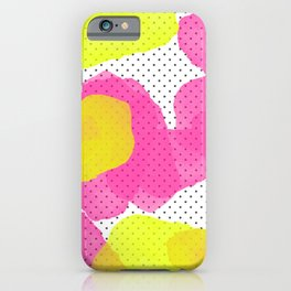 Sarah's Flowers - Abstract Watercolor on Polka Dots iPhone Case