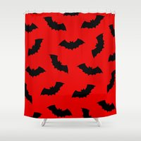 bats Shower Curtains featuring Vampire Bats by The Wellington Boot