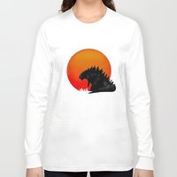 godzilla Long Sleeve T-shirts featuring Godzilla by Maguire