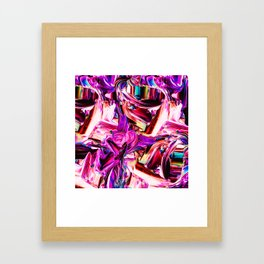 Colorful Abstract Liquid Paint IV Framed Art Print