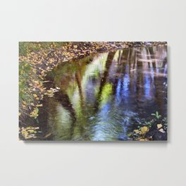Magic autumn Reflections. White Water River Metal Print