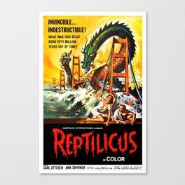 Reptilicus Canvas Print