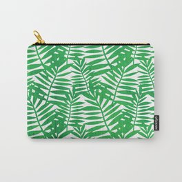Tropical Leaf Print Carry-All Pouch