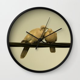 loving doves Wall Clock