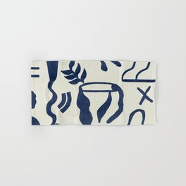 Abstract design in blue tones Hand & Bath Towel