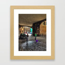 Bubbles on Clink Street Framed Art Print