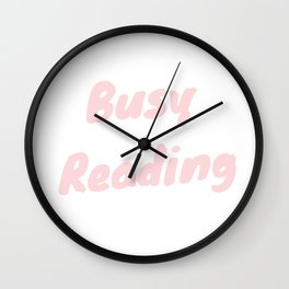 Busy Reading Wall Clock
