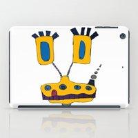 yellow submarine iPad Cases featuring yellow submarine giraffe by JBLITTLEMONSTERS