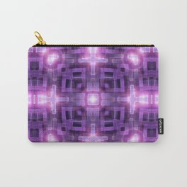 Pink Purple Squareza Carry-All Pouch