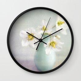 lovely Helleborus Wall Clock