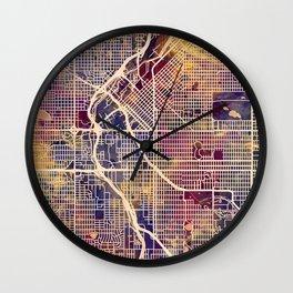 Denver Colorado Street Map Wall Clock