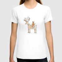 suit T-shirts featuring Deer Suit, Cat Suit by Brent Braaten