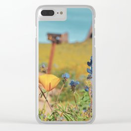 Spring Wildflowers Clear iPhone Case