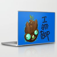 poop Laptop & iPad Skins featuring I Am Poop by Artistic Dyslexia