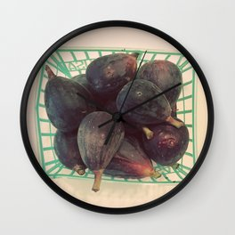 Figs in a Basket Color Photo Wall Clock