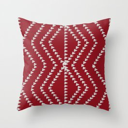 Bright Red Arrows Pattern Throw Pillow