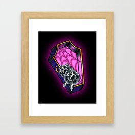 Vacancy - Empty Casket - Tattoo Style Coffin Framed Art Print