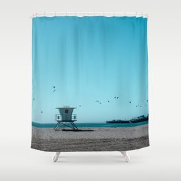 Birds and lifeguard Shower Curtain