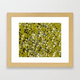 Cat Paws & Mustard Framed Art Print