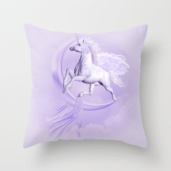 Flying Pegasus Throw Pillow