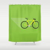 racing Shower Curtains featuring Racing Bicycle by BMaw
