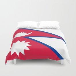 Nepal Flag Duvet Cover