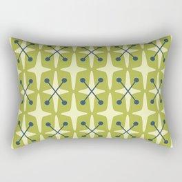 Mid Century Modern Star Pattern 541 Chartreuse Rectangular Pillow