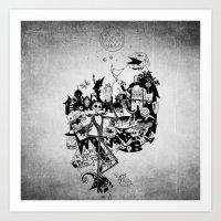 jack skellington Art Prints featuring Jack Skellington by bimorecreative