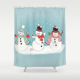 Snowman Winter Wonderland Shower Curtain