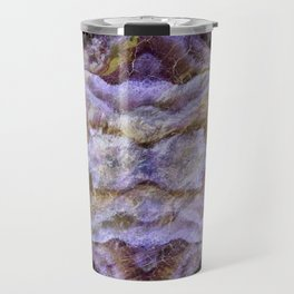 Abstract Mineral Amethyst Crystal Texture Travel Mug