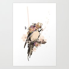 Pearly Parrot  Art Print