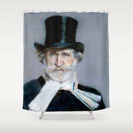 Giuseppe Verdi (1813 – 1901) by Giovanni Boldini (1842 - 1931)(2) Shower Curtain