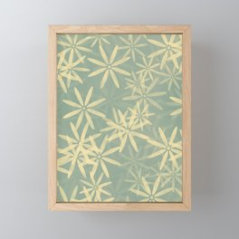 Green and Yellow Flowers Framed Mini Art Print