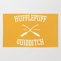 quidditch Area & Throw Rugs featuring Hogwarts Quidditch Team: Hufflepuff by IA Apparel