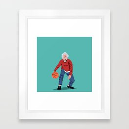 Albert Plays Basketball Framed Art Print