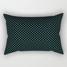 Black and Bayberry Polka Dots Rectangular Pillow