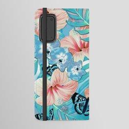 Tropical Spring Aqua Android Wallet Case